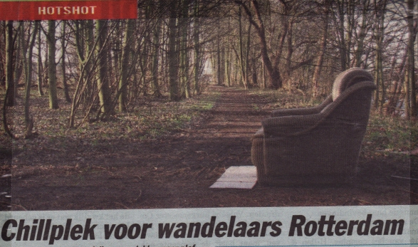 Chillplek voor wandelaars Rotterdam (16-01-07)