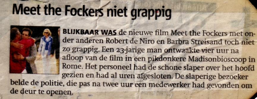Meet Fockers niet grappig (2005)