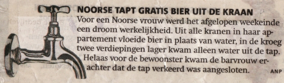 Noorse tapt gratis bier