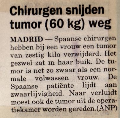 Tumor 60 kg
