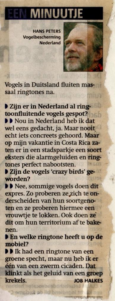Vogels fluiten ringtones