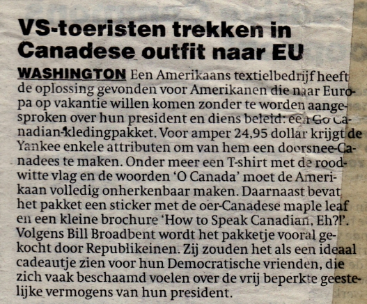 VS toeristen canadese outfit europa (2004)