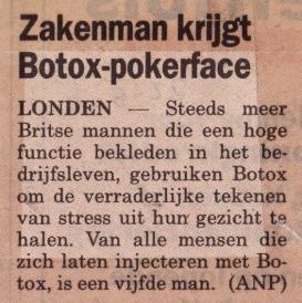Zakenman krijgt Botox-pokerface (22-05-06)