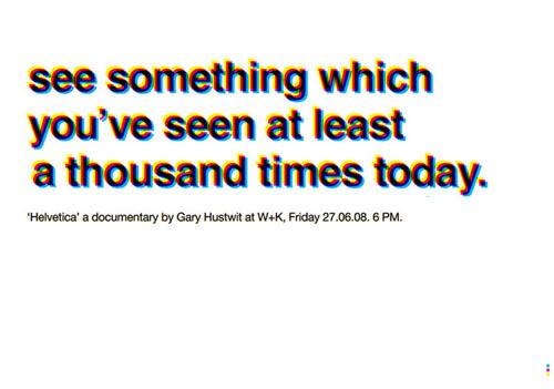 'Helvetica'a documentary bij Gary Hustwit