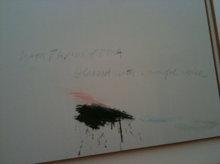Cy Twombly - Thyrsis (detail) 1977