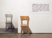 one and three chairs by joseph kosuth,1965