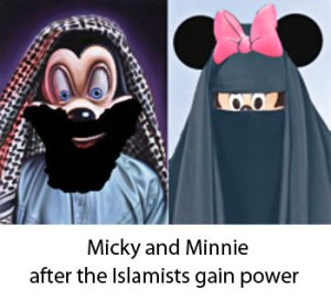 bearded-mickey-mouse and minnie