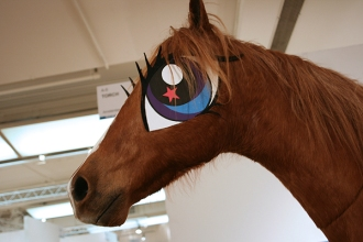 Tinkebell's taxidermied pony at Torch Gallery