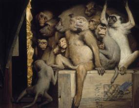 Gabriel_Cornelius_von_Max,_1840-1915,_Monkeys_as_Judges_of_Art,_1889