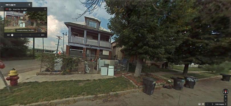 L'angle de Thaddeus et S. Leigh Street, Southwest Detroit, en 2007
