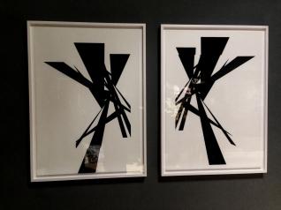 "Part of the work ""Raum-Zeichnungen"" (Spatial drawings) by Christine Rusche"