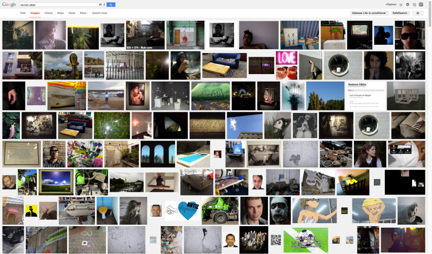 Printscreen Top 105 search results 'Raimon Sibilo' on Google Images (29-12-14). Countdown from number 105 to number 1