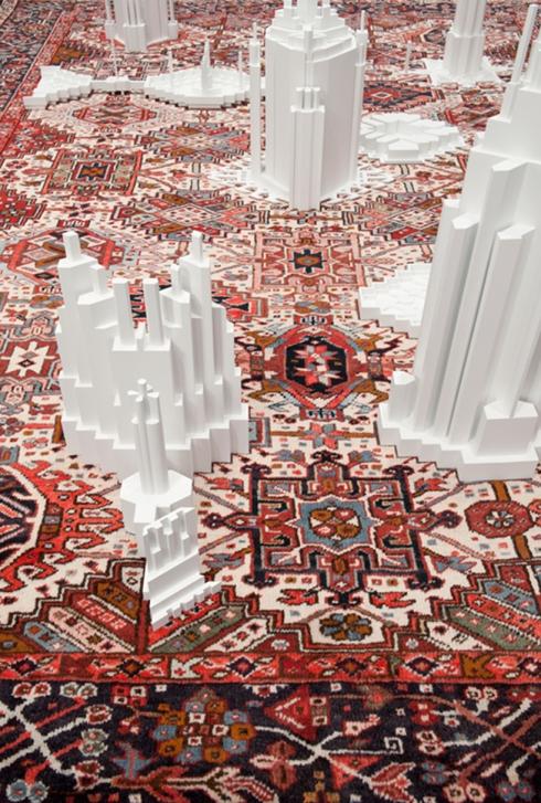 carpet pattern skyscraper sculptures by babak golkar2