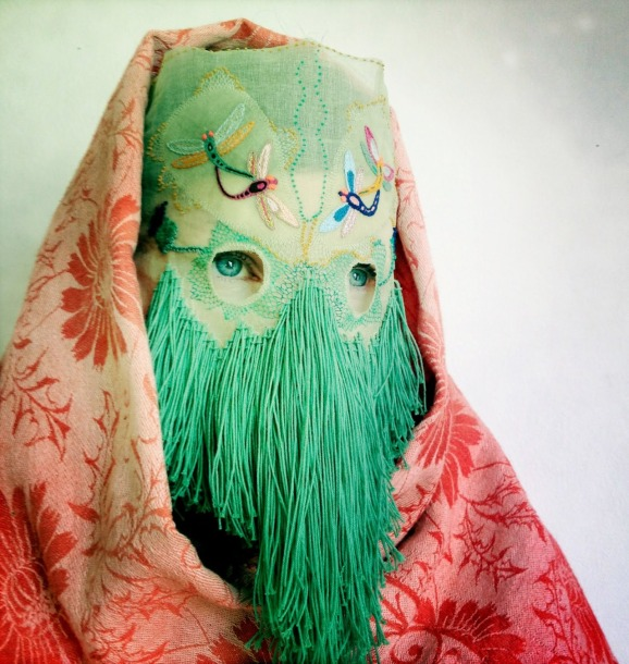 Damselfrau is Norwegian artist Magnhild Kennedy; a craftswoman and mask maker