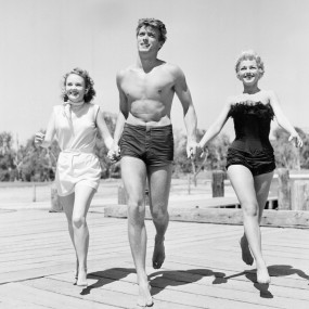 Clint Eastwood, Olive Sturgess, Dani Crayne in San Francisco, 1954.
