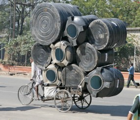 Overloaded Bicycle, Jaipiur, India. 20/2/2007