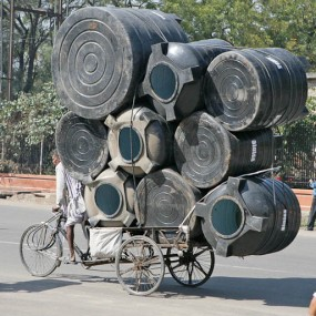 Overloaded Bicycle, Jaipiur, India. 20/2/2007