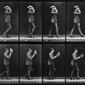 Plate 44 (Man Taking Off Hat), by Eadweard Muybridge | 20x200