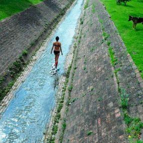Tzitzi Barrantes (Colombia), %22De Sólido a Sólido%22, recorrido desde el Río Negro, Bogotá hasta el Río San Miguel, San Francisco, Cundinamarca, Colombia, 24-25 de Septiembre de 2011